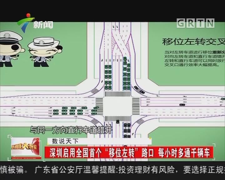 """深圳启用全国首个""""移位左转""""路口 每小时多通千辆车"""