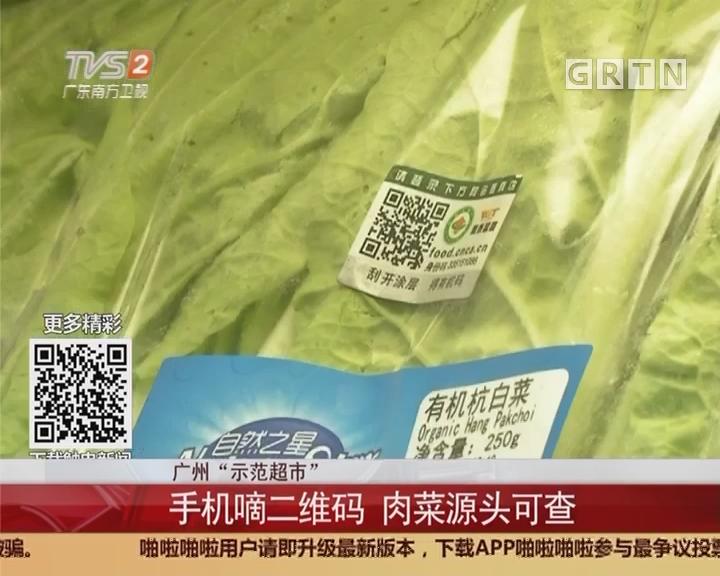"""广州""""示范超市"""":手机嘀二维码 肉菜源头可查"""