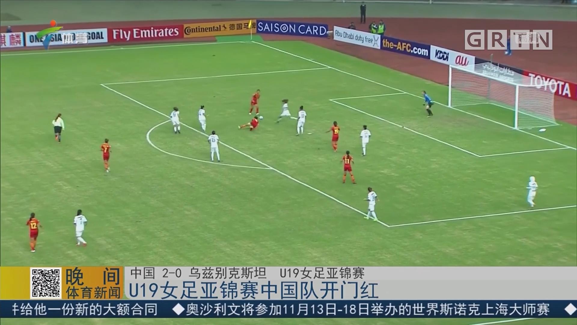 U19女足亚锦赛中国队开门红