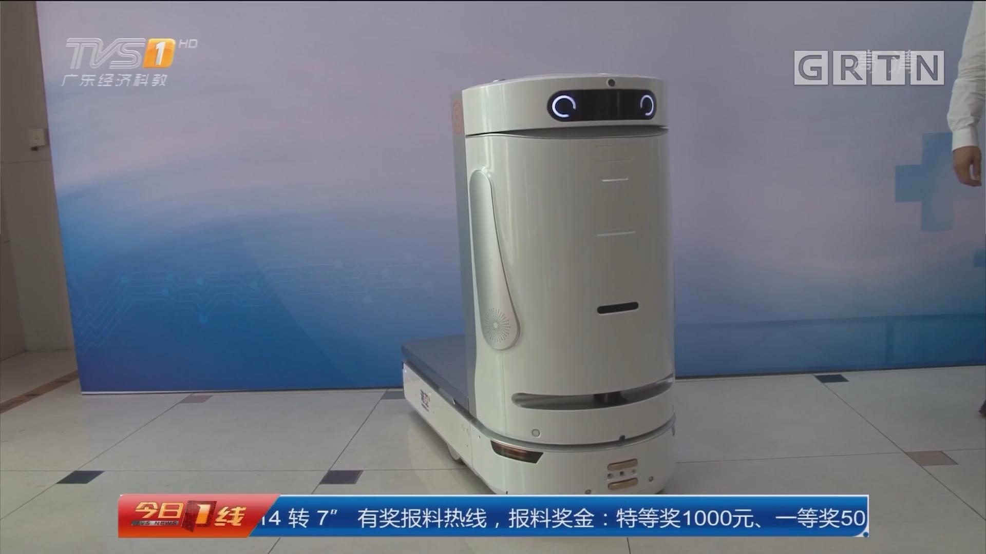 医院物流机器人:医院配送机器人 全国首发