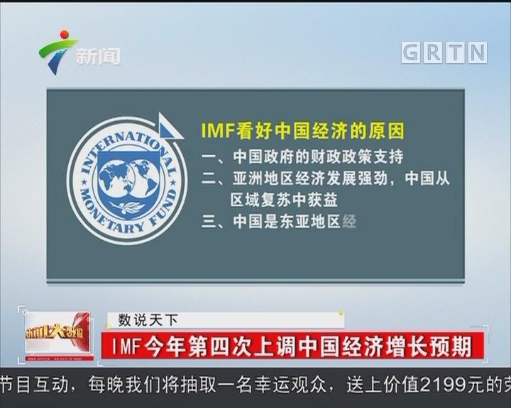 IMF今年第四次上调中国经济增长预期