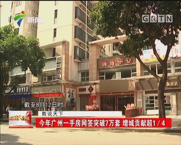 今年广州一手房网签突破7万套 增城贡献超1/4