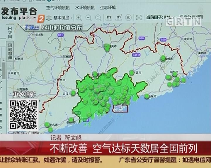 广东空气质量:不断改善 空气达标天数居全国前列