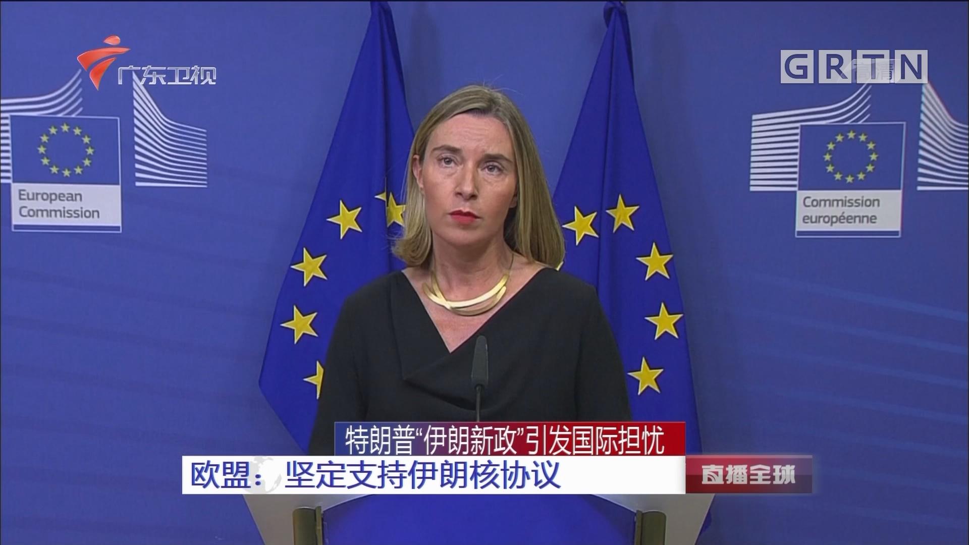 """特朗普""""伊朗新政""""引发国际担忧 欧盟:坚定支持伊朗核协议"""