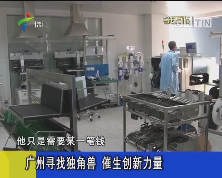 广州寻找独角兽 催生创新力量