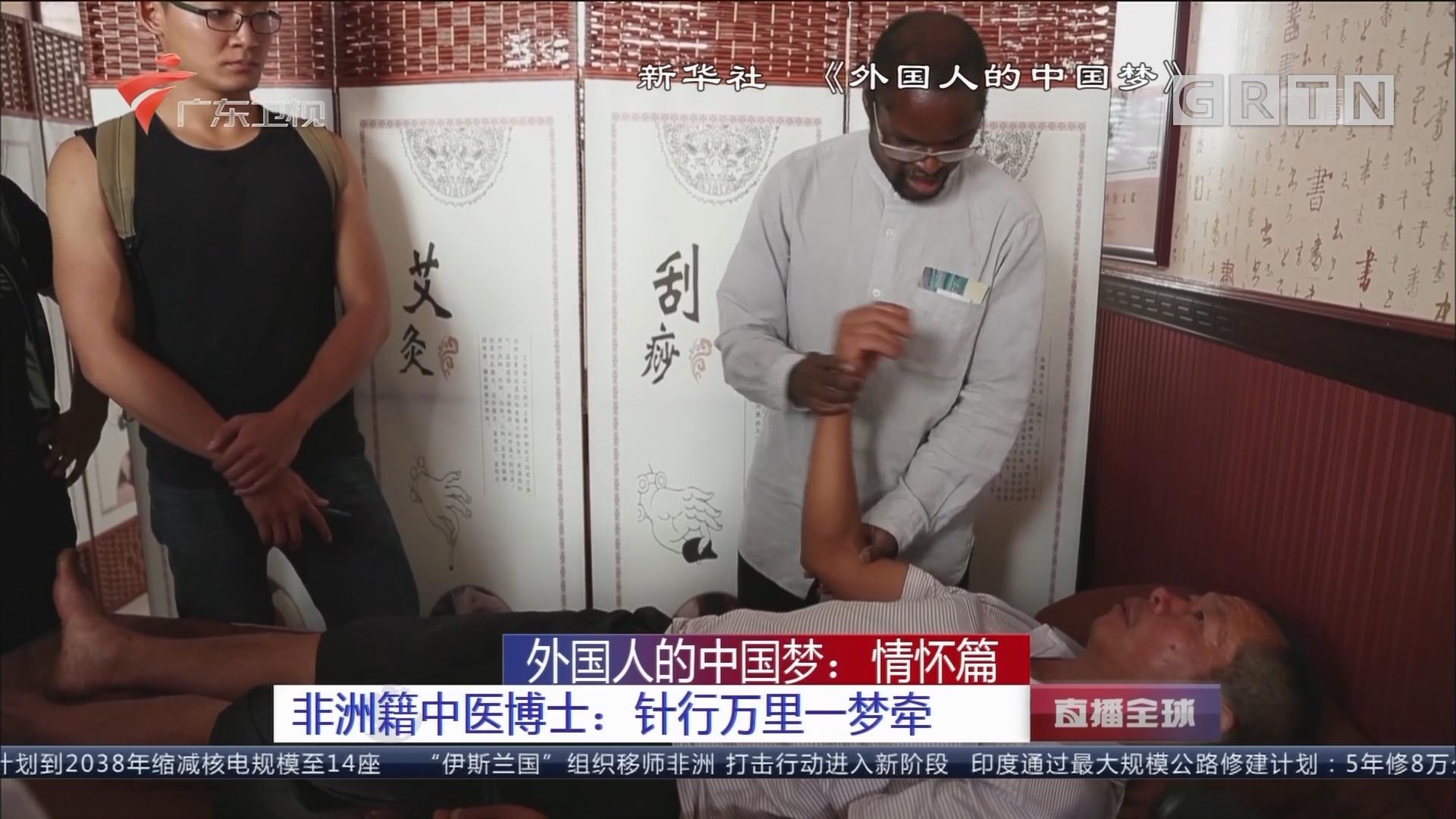 外国人的中国梦:情怀篇 非洲籍中医博士:针行万里一梦牵