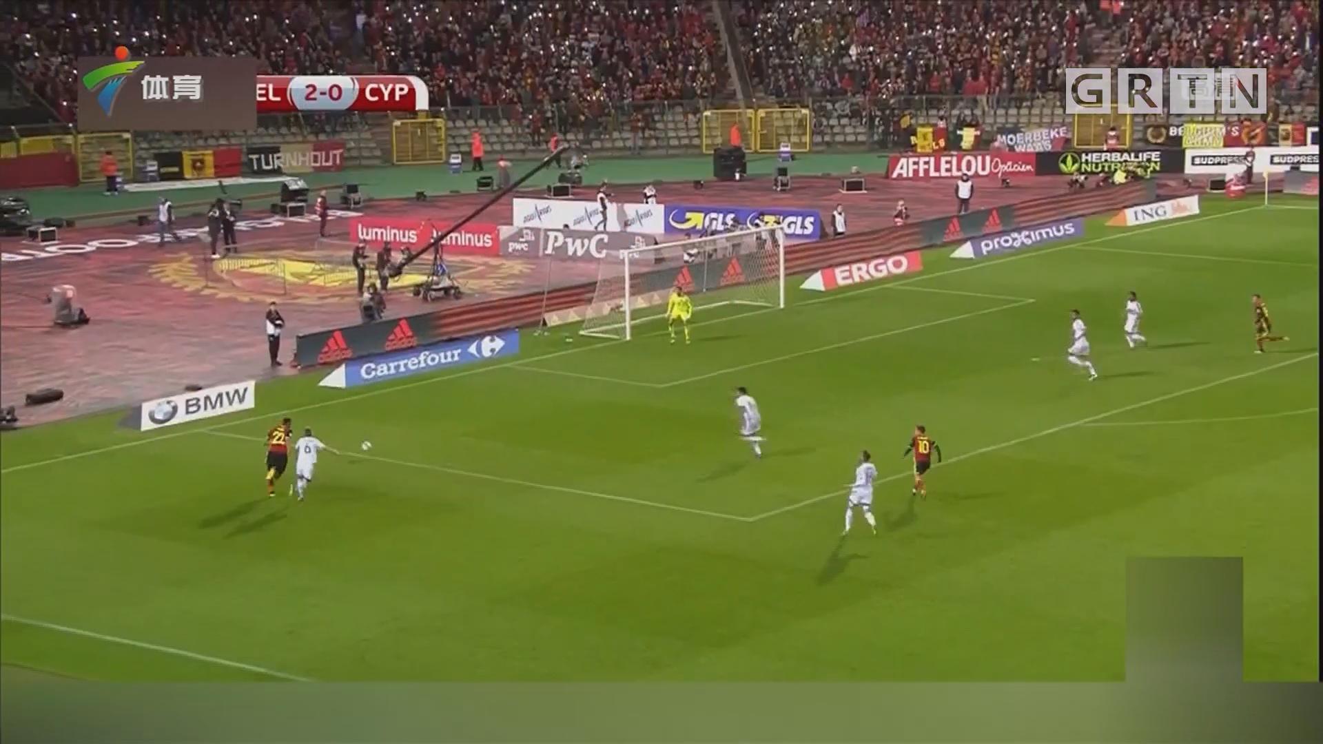4球大胜 比利时晋级世界杯