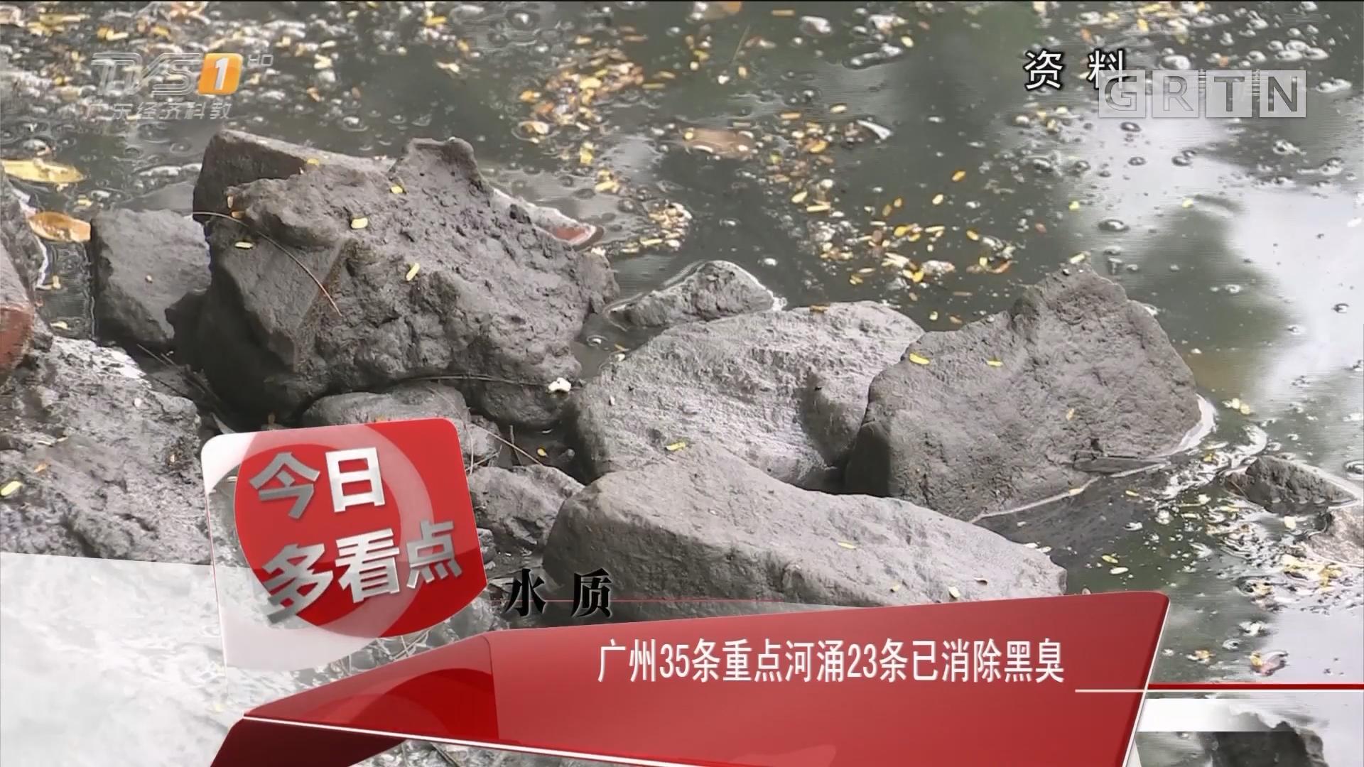 水质:广州35条重点河涌23条已消除黑臭