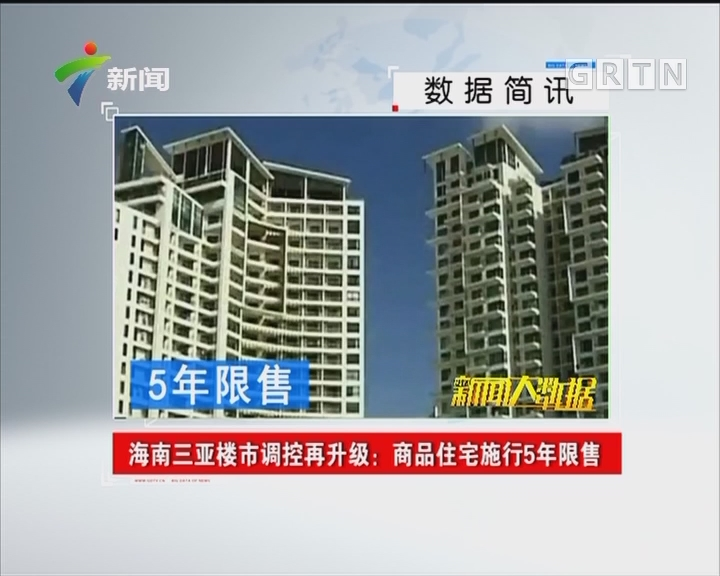 海南三亚楼市调控再升级:商品住宅施行5年限售