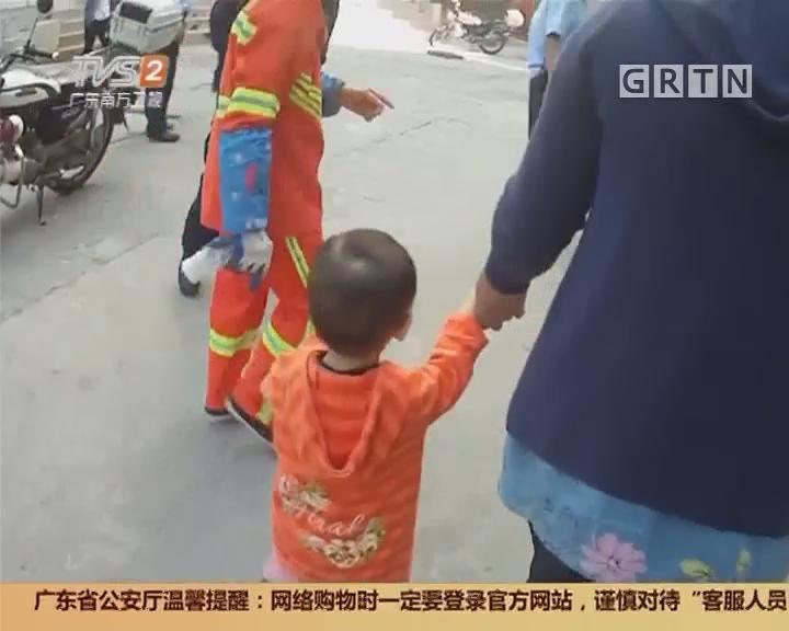 佛山禅城:两岁小女孩 迷途走进士多店