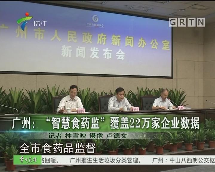"""广州:""""智慧食药监""""覆盖22万家企业数据"""