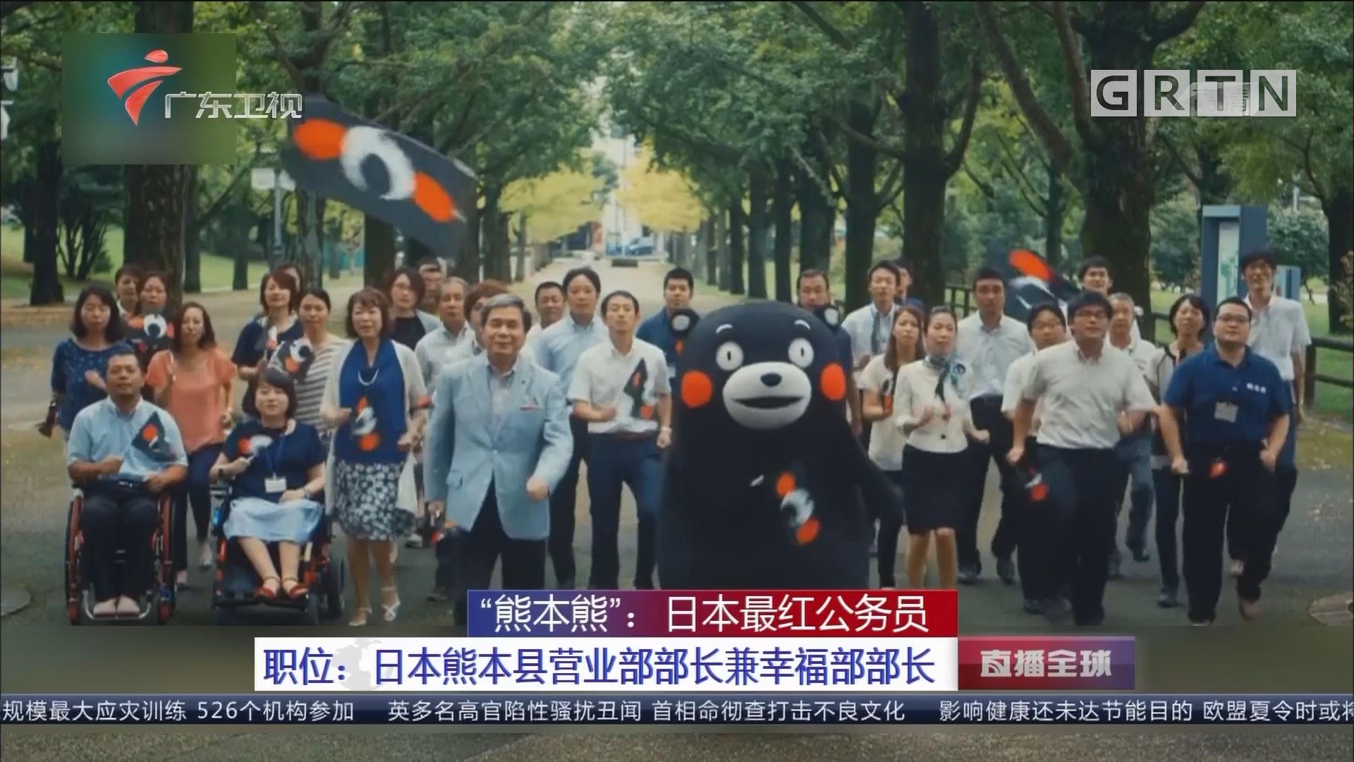 """""""熊本熊"""":日本最红公务员 职位:日本熊本县营业部部长兼幸福部部长"""