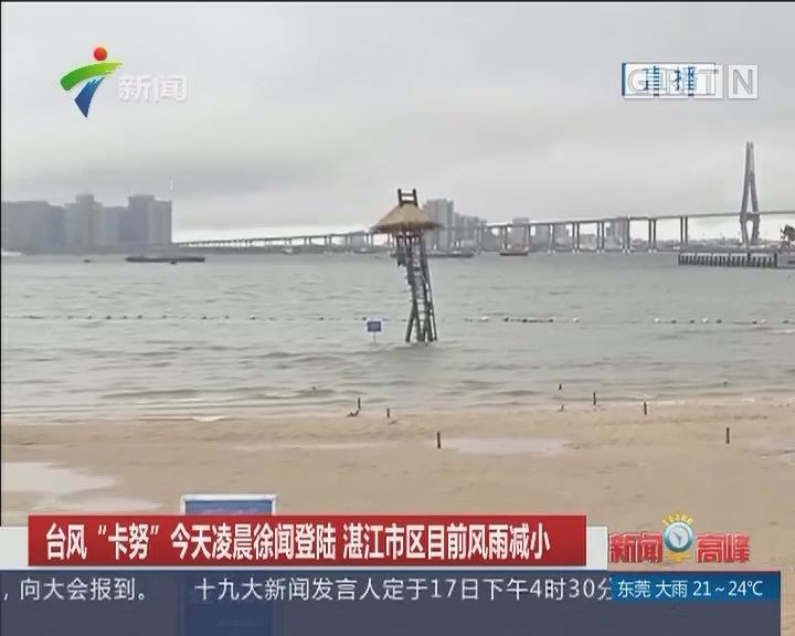 """台风""""卡努""""今天凌晨徐闻登陆 湛江市区目前风雨减少"""