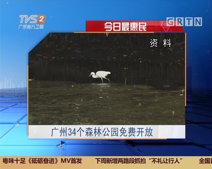 今日最惠民:广州34个森林公园免费开放