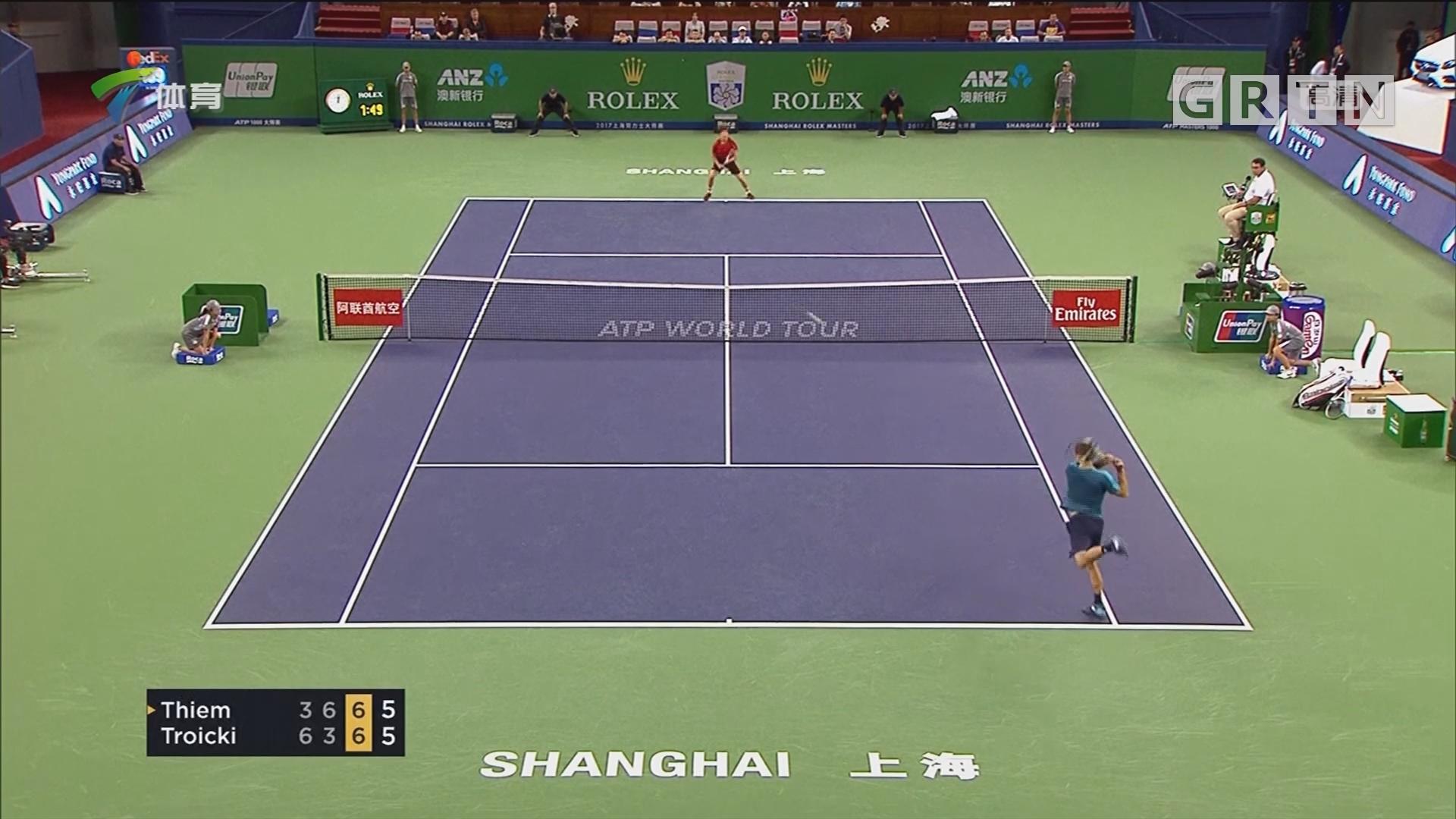 ATP上海大师赛 费德勒首盘遭抢七仍晋级