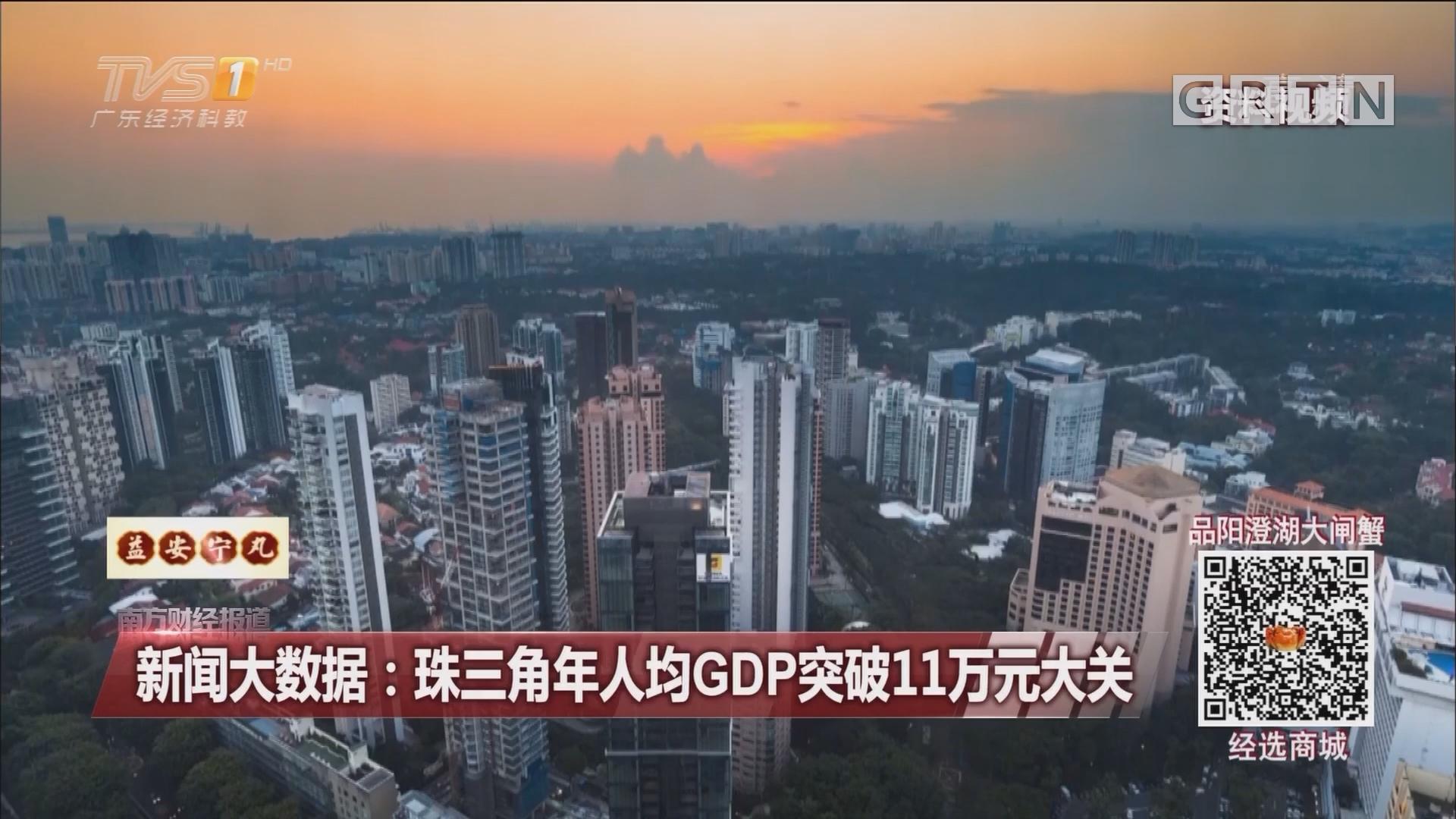 新闻大数据:珠三角年人均GDP突破11万元大关