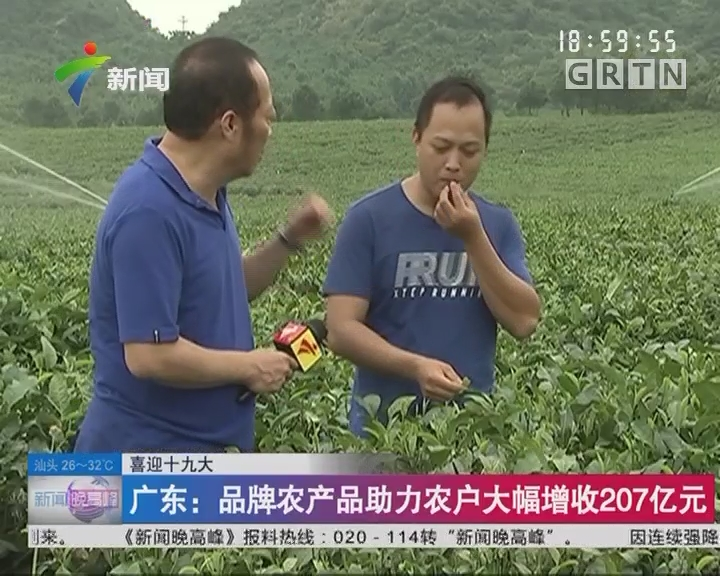 喜迎十九大 广东:品牌农产品助力农户大幅增收207亿元