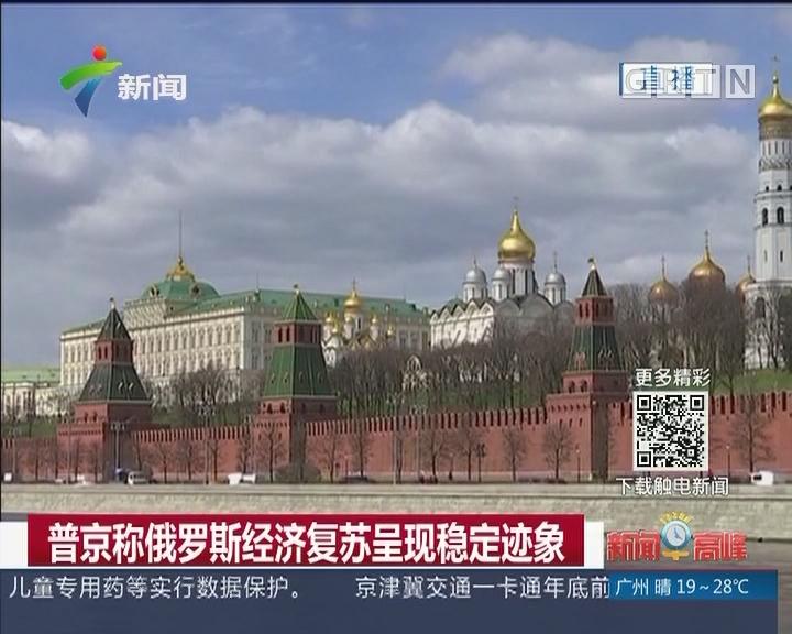 普京称俄罗斯经济复苏呈现稳定迹象