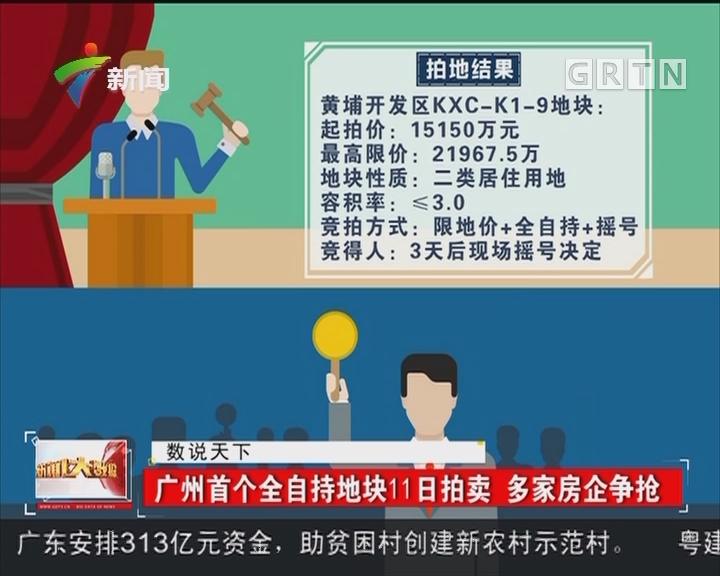 广州首个全自持地块11日拍卖 多家房企争抢