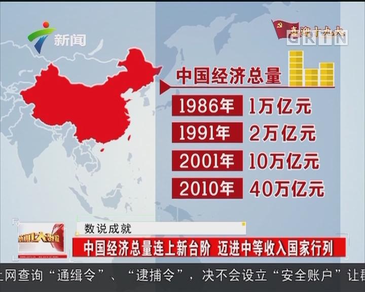 中国经济总量连上新台阶 迈进中等收入国家行列