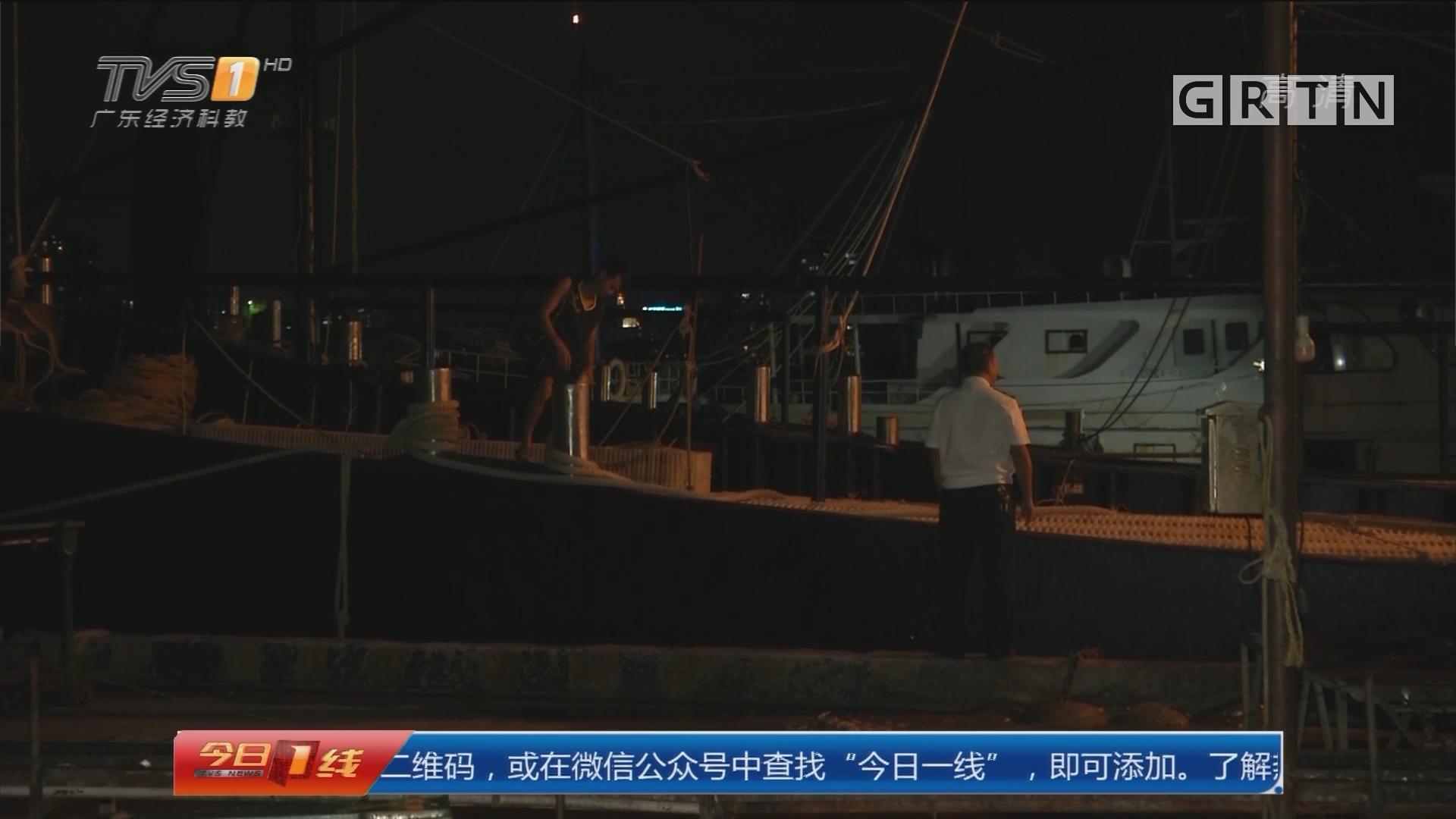 """湛江:台风""""卡努""""临近 渔船纷纷回港避风"""