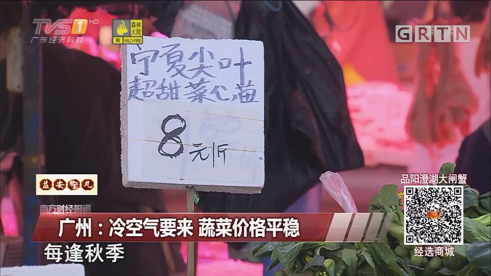 广州:冷空气要来 蔬菜价格平稳