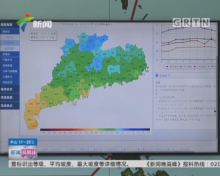 天气:气温下降? 广州今早最低气温只有16℃