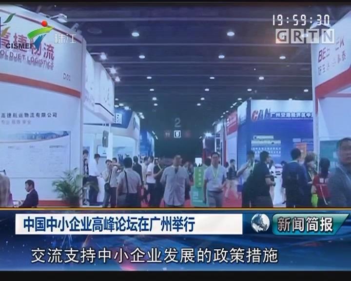 中国中小企业高峰论坛在广州举行