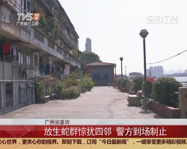 广州如意坊:放生蛇群惊扰四邻 警方到场制止