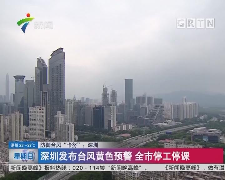 """防御台风""""卡努"""":深圳 深圳发布台风黄色预警 全市停工停课"""