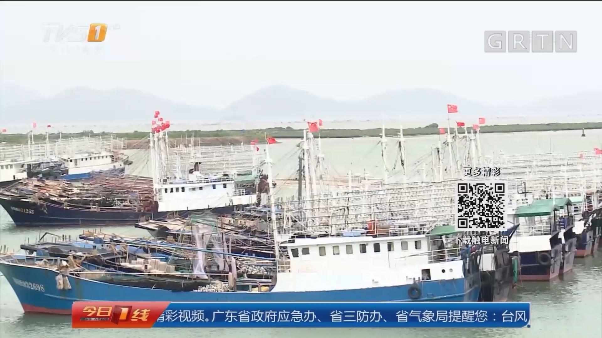 """防御台风""""卡努"""":阳江 超两千艘渔船回港 转移五千多人"""