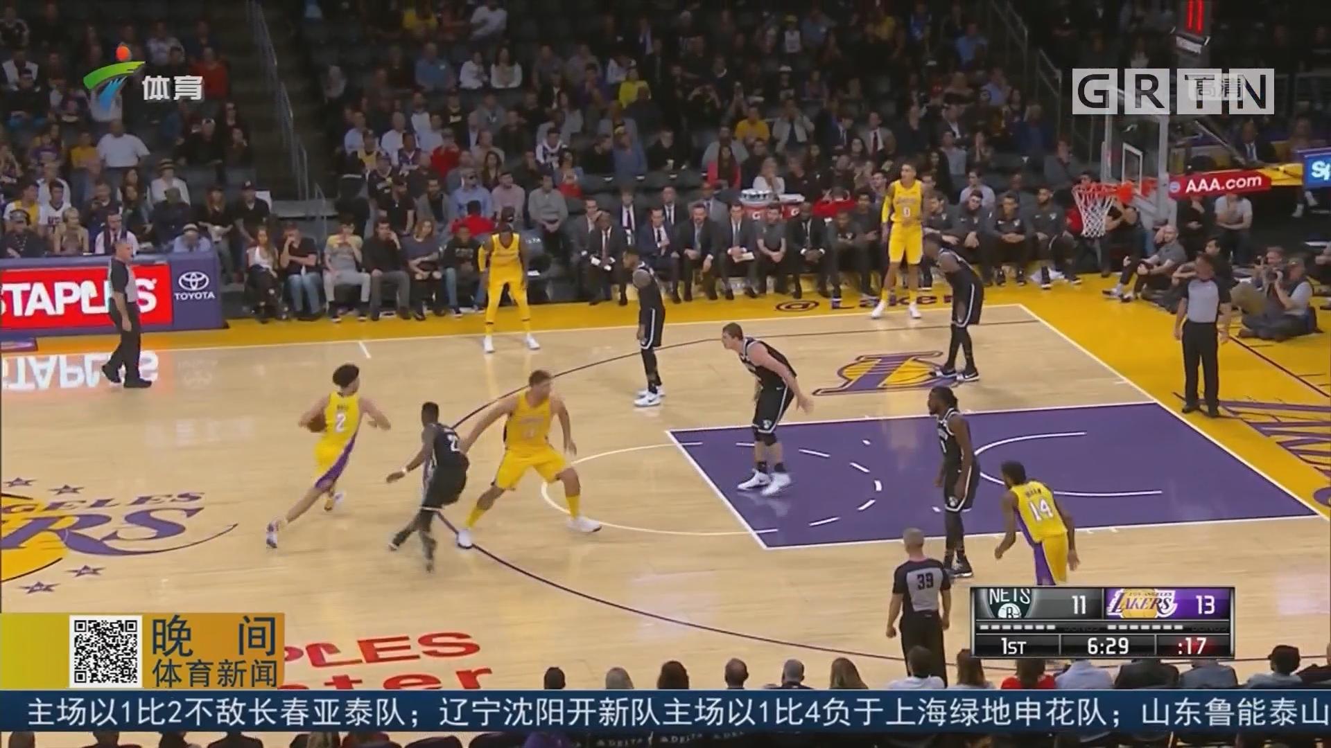 NBA 湖人主场胜篮网