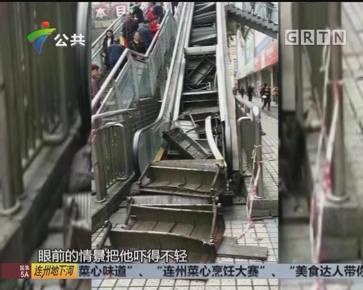 怀疑零件老化 扶梯运行中踏板翘起