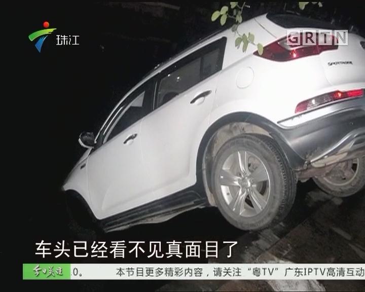珠海:实习女司机代驾 飞车冲入河