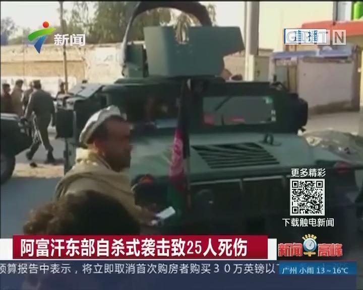 阿富汗东部自杀式袭击致25人死伤