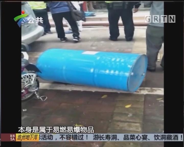 佛山:工人自行切割铁桶 发生爆炸