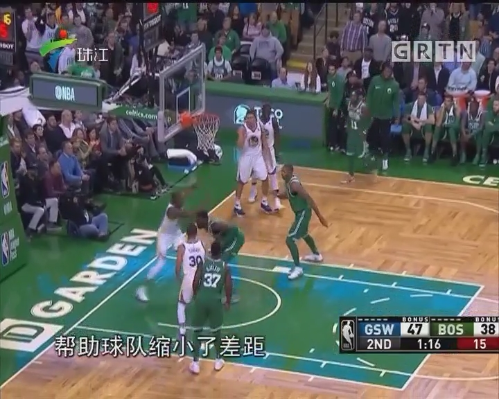 NBA:顽强绿军逆转勇士迎14连胜