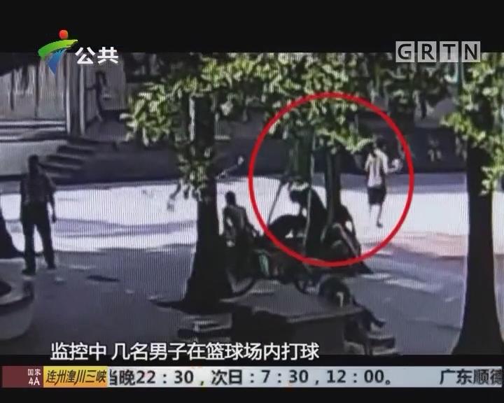 深圳:打篮球中场休息 男子突然倒下