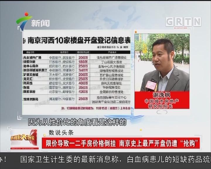 """限价导致一二手房价格倒挂 南京史上最严开盘仍遭""""抢购"""""""