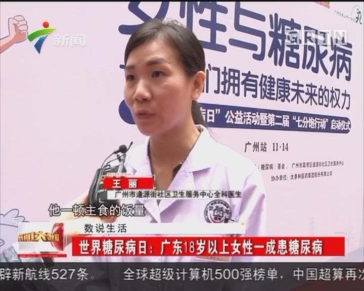 世界糖尿病日:广东18岁以上女性一成患糖尿病