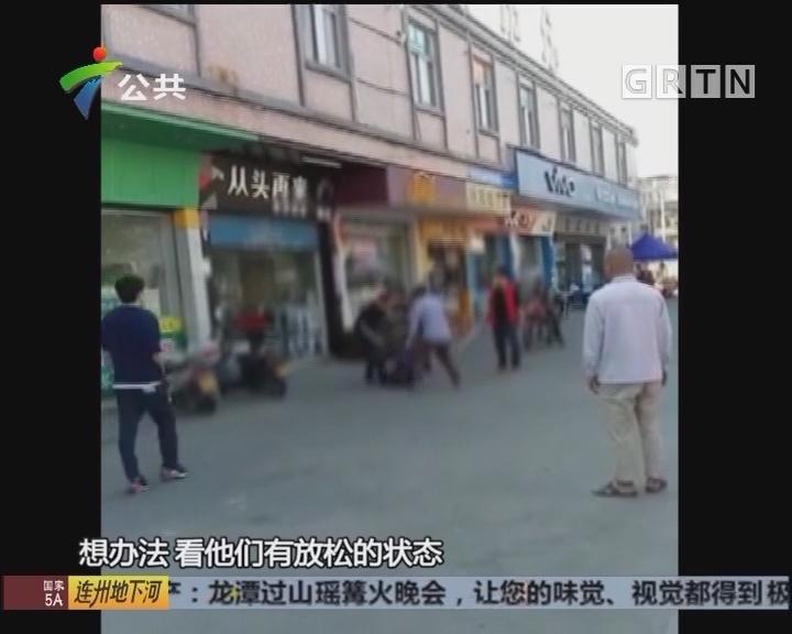 江门:男子持刀冲进超市 被快速制服