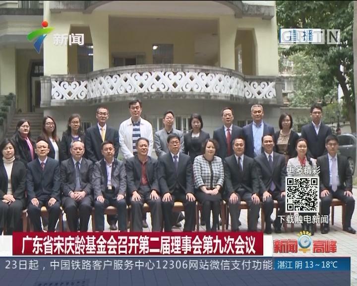 广东省宋庆龄基金会召开第二届理事会第九次会议