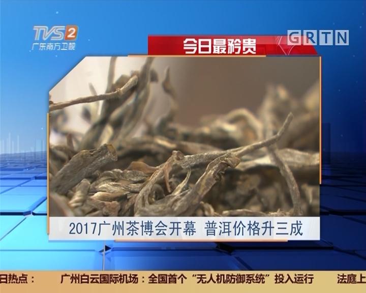 今日最矜贵:2017广州茶博会开幕 普洱价格升三成