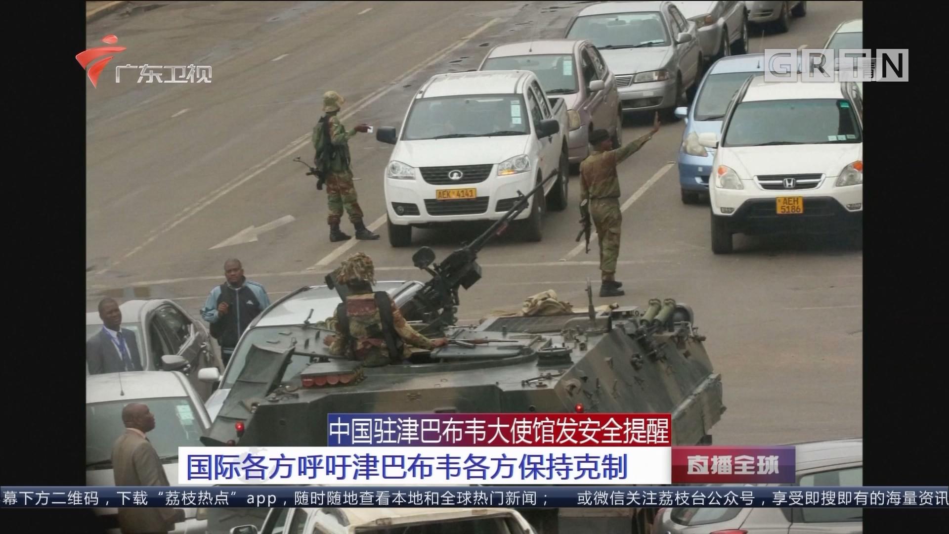 中国驻津巴布韦大使馆发安全提醒 国际各方呼吁津巴布韦各方保持克制
