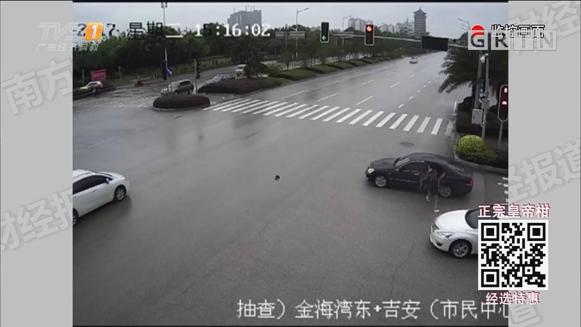 女司机停车等绿灯 遭壮汉砸窗抢劫