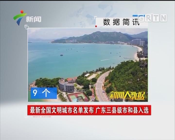最新全国文明城市名单发布 广东三县级市和县入选