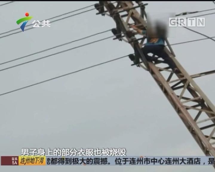 中山:男子爬上电线杠遭电击 疑因面试受挫