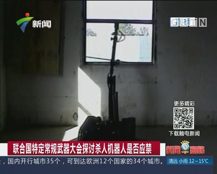 联合国特定常规武器大会探讨杀人机器人是否应禁