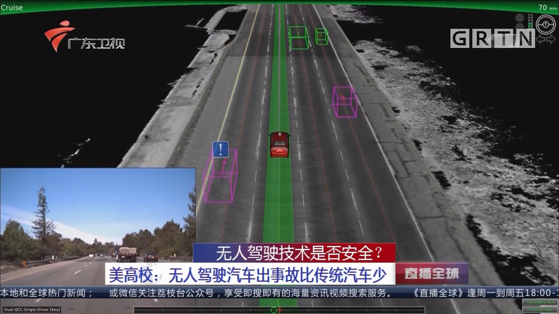 无人驾驶技术是否安全?美高校:无人驾驶汽车出事故比传统汽车少