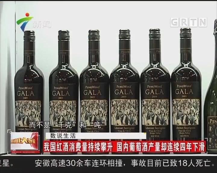 我国红酒消费量持续攀升 国内葡萄酒产量却连续四年下滑